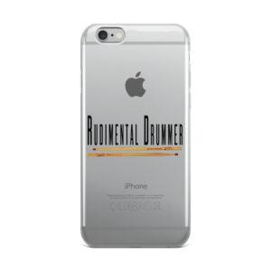 Rudimental Drummer iPhone Case (Clear)